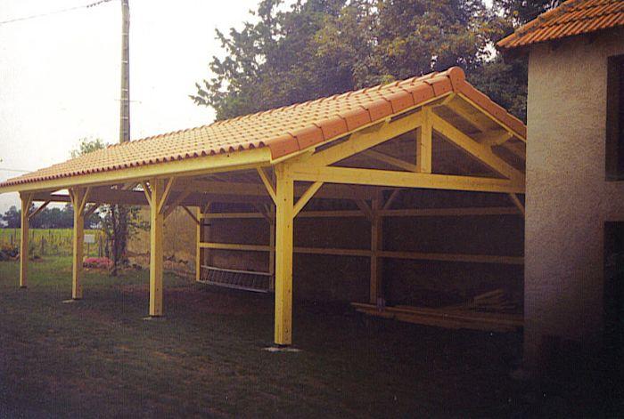 Gonon bois for Garage en bois pour 2 voitures